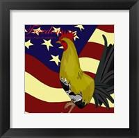 Framed Rooster Freedom