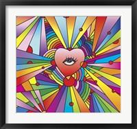 Framed Heart Eye Pop