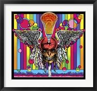 Framed Lacrosse Skull