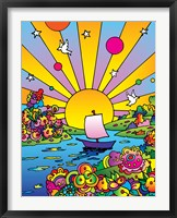 Framed Cosmic Boat Color