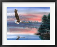 Framed Heartland Eagle