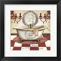 Red French Bath I Framed Print