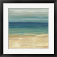 Framed Navy Blue Horizons II