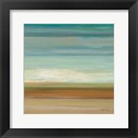 Turquoise Horizons II Framed Print