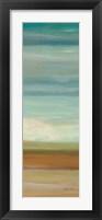 Turquoise Horizons Panel II Framed Print