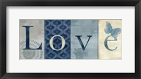 Framed Live Love Laugh Navy II