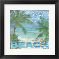 Framed Beach Palm I