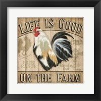Framed Country Rooster II