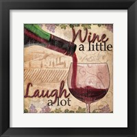 Wine With Friends I Framed Print