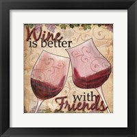 Framed Wine With Friends II