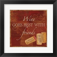 Wine Cork Sentiment I Framed Print