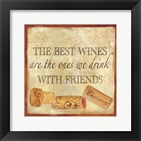 Framed Wine Cork Sentiment II