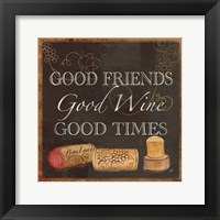 Wine Cork Sentiment III Framed Print