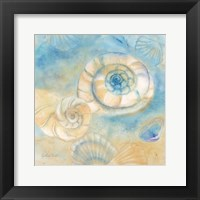 Watercolor Shells I Framed Print