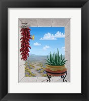 Framed Aloe and Chilis II