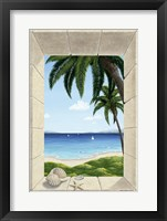 Framed Hawaiian Fantasy with Shells