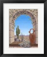 Framed Saguaro View