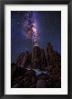 Framed Pinnacles Milky Way