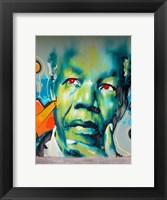 Framed Graffiti de Mandela