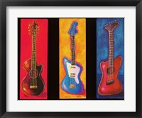 Framed Three Guitars