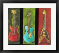 Framed Three Guitars 2