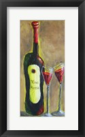 Framed Vino Rosso for Two