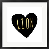 Lion Heart Framed Print