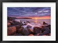 Framed Acadia Rocks