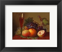 Fruit and Wine Framed Print
