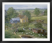 Framed Small Farm Newton
