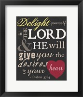 Psalm Saying I Framed Print