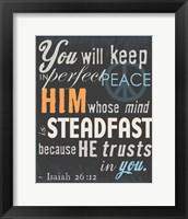 Psalm Saying II Framed Print