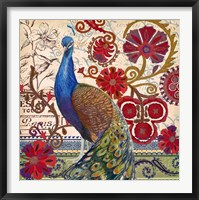 Framed Peacock Decore II