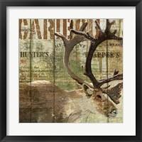Framed Open Season Caribou