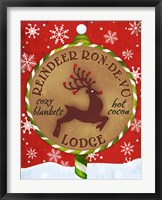 Framed Reindeer Lodge