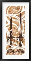Rococo Glimmer Framed Print