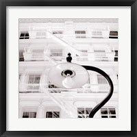 White Facade Framed Print
