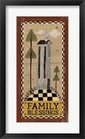Family Blessings Framed Print