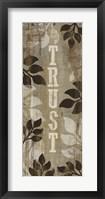 Trust Framed Print
