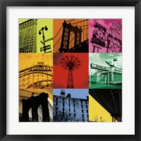 New York Nine Framed Print