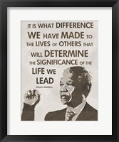 Framed Life We Lead - Nelson Mandela