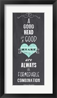 Framed Good Heart - Nelson Mandela Quote