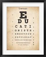 Framed Nelson Mandela Eye Chart I