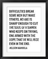 Framed Soul of a Sinner - Nelson Mandela Quote