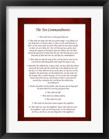 Framed Ten Commandments - Red