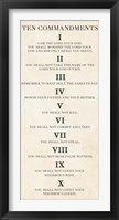 Framed Ten Commandments - Roman Numerals