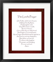 Framed Lord's Prayer - Red