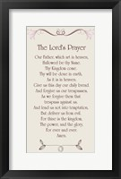 Framed Lord's Prayer - Floral