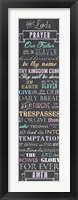 Framed Lord's Prayer - Chalkboard