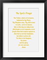 Framed Lord's Prayer - Gold